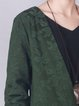 Long Sleeve Gathered Casual Linen Outerwear