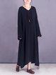 Asymmetrical Long Sleeve Linen Dress