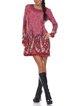 Long Sleeve Abstract Casual Mini Dress