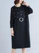 Casual Long Sleeve Cotton Linen Dress