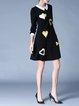 Peter Pan Collar Girly 3/4 Sleeve Midi Dress