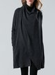Asymmetric Casual Solid Long Sleeve Coat