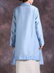 Jacquard Solid Casual Linen Outerwear