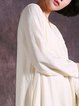 Long Sleeve Shift Casual Solid Linen Dress