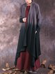 Long Sleeve Solid Color-block Linen Outerwear