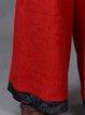 Casual Paneled Linen Linen Bottom