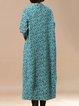 Long Sleeve Casual Swing Linen Dress