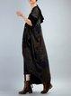 Hoodie Casual Long Sleeve Linen Outerwear