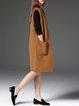Khaki Plain Pockets Sleeveless Casual Vests And Gilet