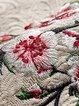 Elegant 3/4 Sleeve Floral Stand Collar Coat