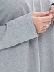 Cotton-blend Cutout V Neck Casual Top
