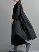 Casual Linen H-line Linen Dress