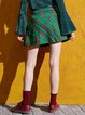 Girly A-line Checkered/Plaid Mini Skirt