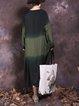 Color-block Long Sleeve Dress