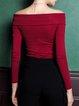 Long Sleeve Vintage Off Shoulder Long Sleeved Top