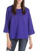 Purple Wool Blend Raglan Sleeve Sweater