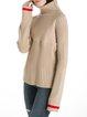 Beige Wool Blend Turtleneck Raglan Sleeve Sweater