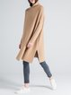 Camel Cashmere Long Sleeve Sweater Dress