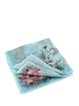 Light Blue Girly Floral Pink Rose Print Silk Square Scarf