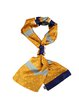 Yellow Color-block Polka Dots Scarf