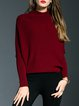 Long Sleeve Stand Collar Knitted Sweater