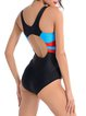 Black Straped Cut-outs Padded Nylon One-Pieces