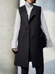 Solid Pockets Casual Sleeveless Vests And Gilet