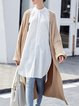 Knitted Solid Casual Ribbed Long Sleeve Cardigan