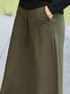 Simple A-line Midi Skirt