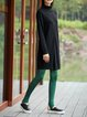 Polyester Simple Solid Leggings