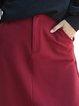 Slit Solid Casual Midi Skirt