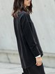 Simple Crew Neck Solid Long Sleeved Top