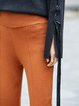 Simple Solid Straight Leg Pants