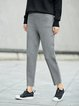 Simple Cotton Solid Straight Leg Pants