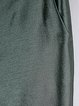 Green Plain Cotton-blend Flared Pants