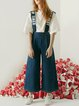Blue Casual Denim Overall