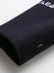 Plus Size Navy Blue Lapel Letter Embroidered A-line Casual Coat