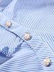 Blue Frill Sleeve Paneled Stripes Top