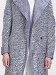 Light Blue Hoodie Long Sleeve H-line Coat