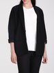 Black Casual Lapel Pockets Blazer