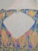 Multicolor Printed 3/4 Sleeve Mini Dress