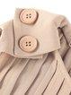 Sleeveless Polyester Bow Crew Neck Elegant Midi Dress