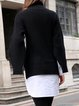 Black-white Statement Paneled Turtle Neck Solid Top