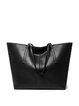 Large Leather Casual Zipper Tote