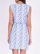 Sleeveless Casual Crew Neck Printed Mini Dress