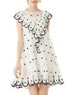 Sleeveless Girly Printed A-line Polyester Dress With Cami
