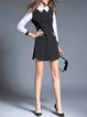 Black Shift Color-block Stripes Mini Dress