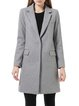 Lapel Long Sleeve Elegant Pockets Plain Coat