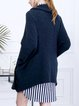 Wool Blend Plain Casual Cardigan with Pockets