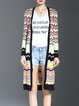 Yellow Ombre/Tie-Dye Long Sleeve Knitted Cardigan